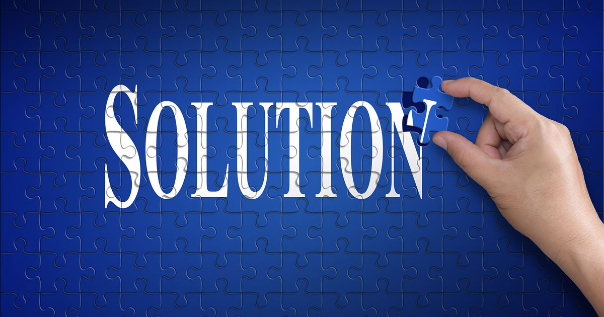 Jigsaw puzzle of the word solution