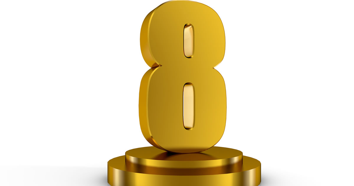 Gold number eight