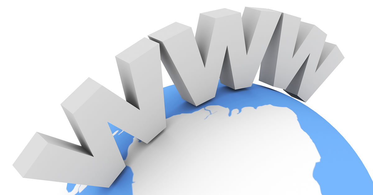 World Wide Web opportunity — large WWW designation on top of world globe