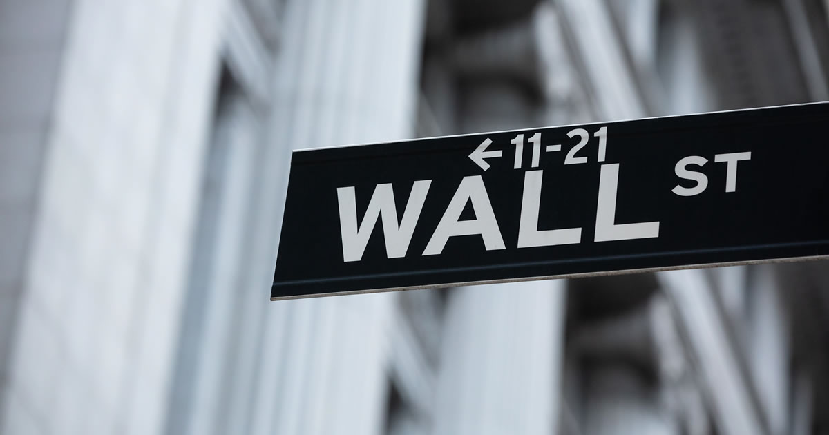 Directional Sign Board Of Wall Street Financial Market/Stock Exchange in New York City