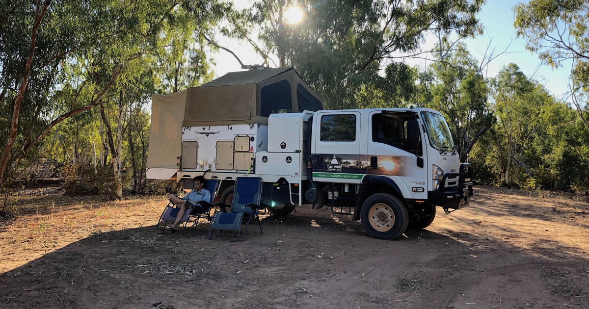 AWAI Member and marketing entrepreneur Andrew Murray writes web copy from his campsite in the Australian Outback