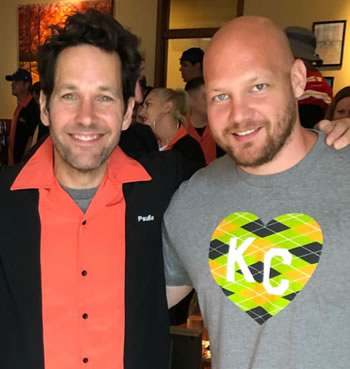 Henry Bingaman and actor Paul Rudd at Paul's Big Slick charity event