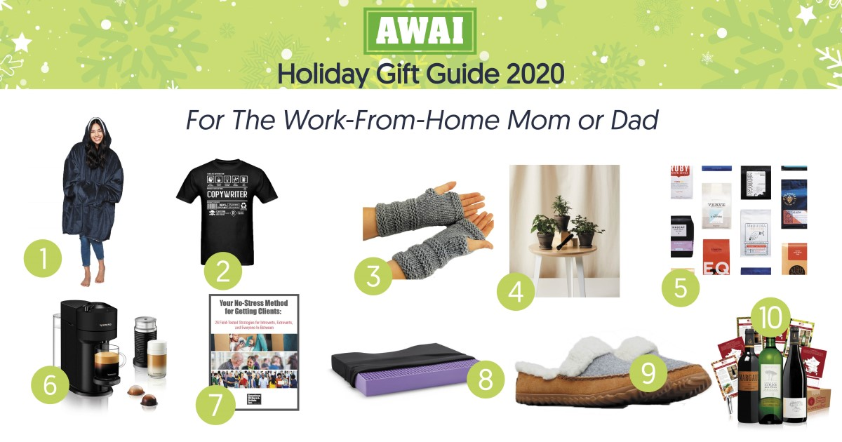 holiday gift guide for work from home mom or dad
