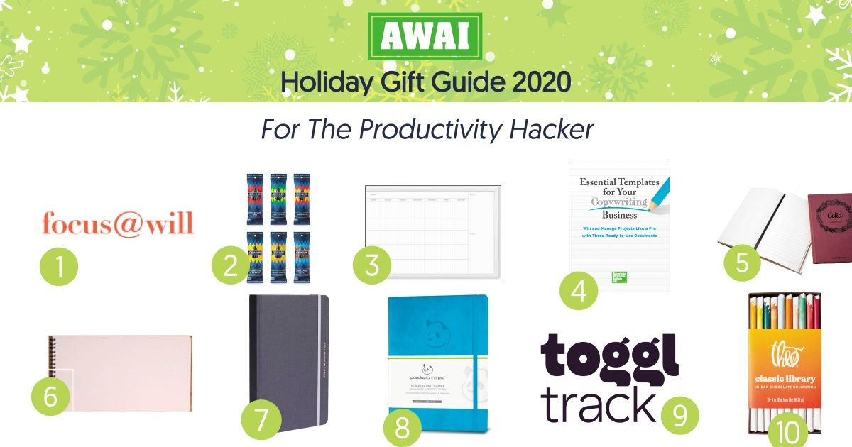 holiday gift guide for the productivity hacker