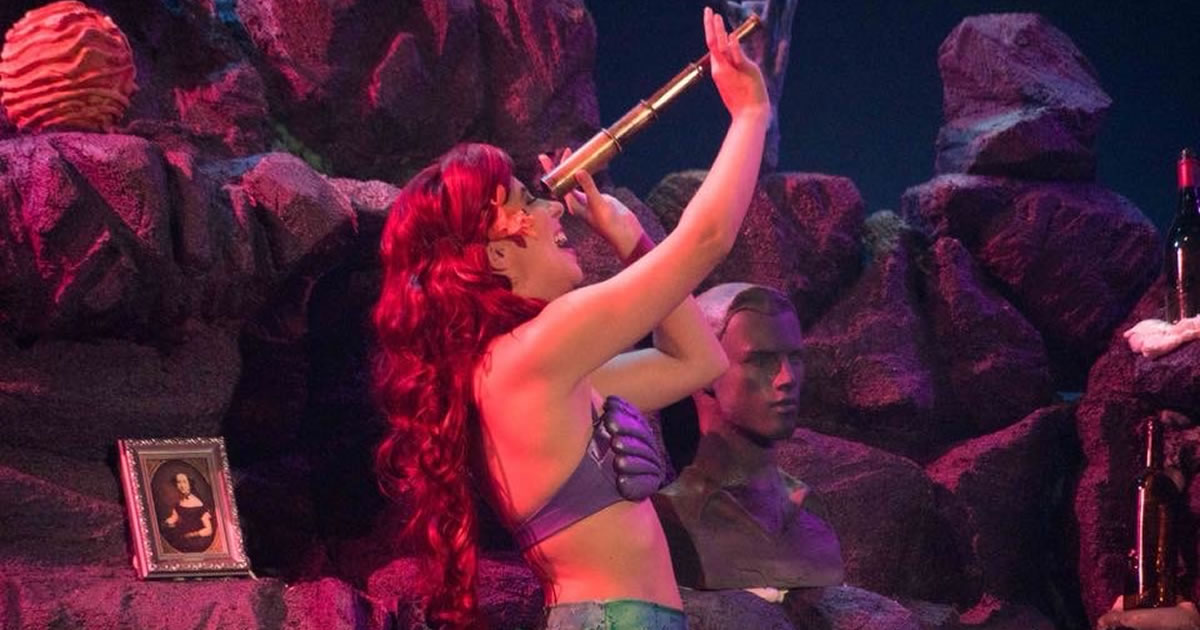 Photo of copywriter Allison Comotto as Ariel in a local production of The Little Mermaid