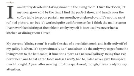 Excerpt from a post on Food52 website