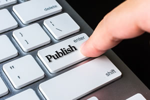 Self-publishing is a common way to produce an ebook.