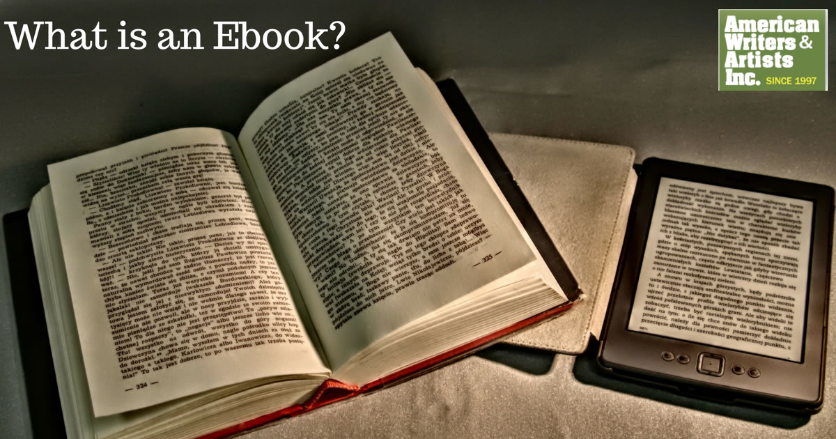What is an Ebook? - Traditional Book Next to e-Reader