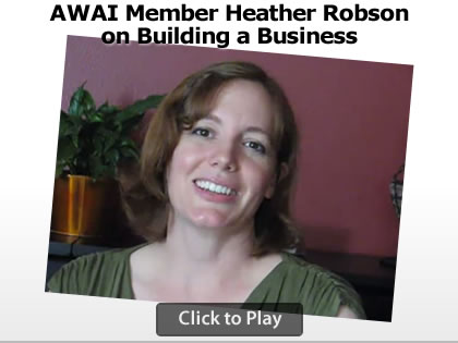 AWAI Member Heather Robson on Building Your Business