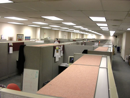 Dreary Office Cubicle