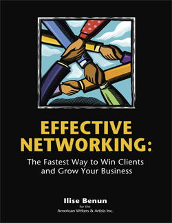 Ilise Benun's Effective Networking is the best program for shy writers seeking freelance writing clients.