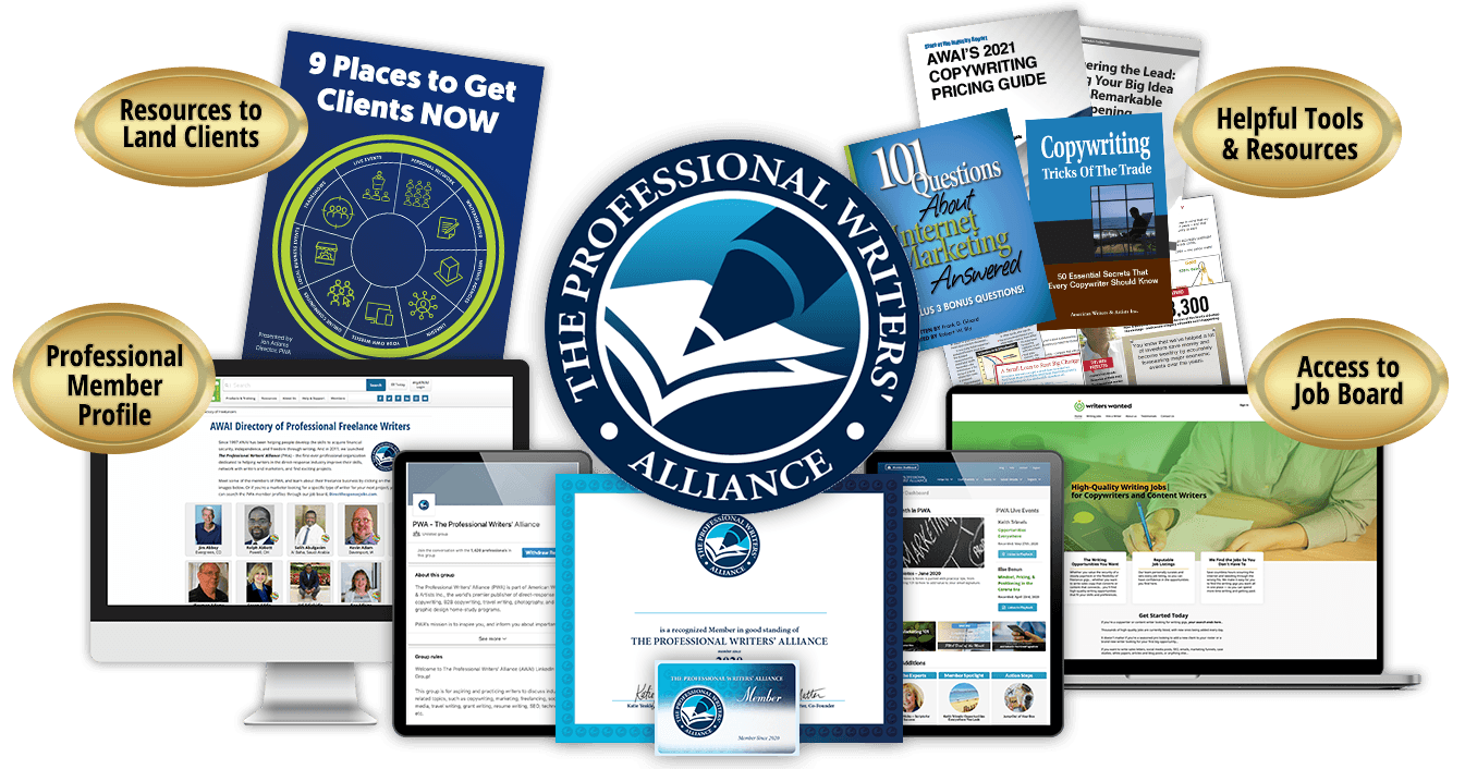 A collection of all the reports and resources that come with The Professional Writers' Alliance