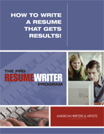 The Pro Resume Writer Program