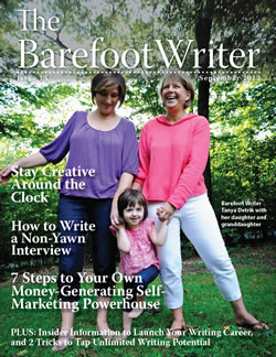 Barefoot Writer September Cover