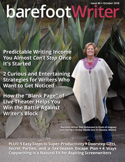 Live: The Barefoot Writer October Issue