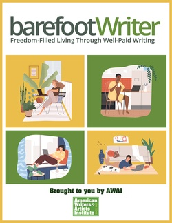 Membership to The Barefoot Writer takes you inside how to start a career as a well-paid writer