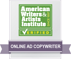 AWAI Verified™ Online Ad Copywriter Badge