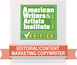AWAI Verified™ Editorial and Content Marketing Copywriter Badge