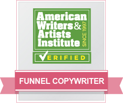 AWAI Verified™ Funnel Copywriter Badge