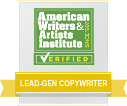 AWAI Verified™ Lead-Gen Copywriter Badge